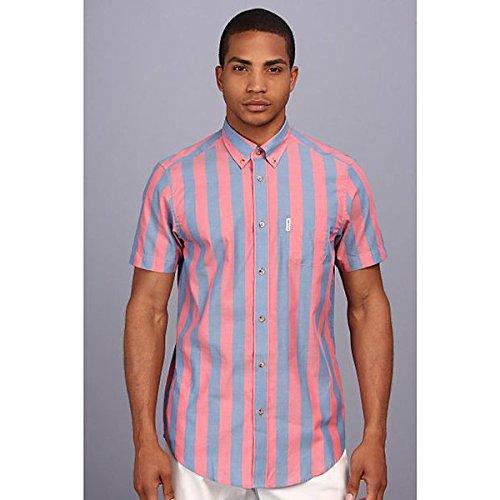 (ベンシャーマン) Ben Sherman メンズ トップス 半袖シャツ Summer Candy Stripe S/S Shirt 並行輸入品