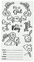 Sizzix 660639 Sweet Baby Stamps by Lynda Kanase, Clear by Sizzix