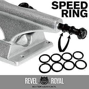 レベルロイヤル(Revel Royal) スケートボード(スケボー) トラック用 スピードリング ブラック 8個入り