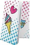 GS03 / GS02 ケース 手帳型 アイス アイスクリーム お菓子 おかし ジーエス 手帳型ケース 夏 海 ハワイアン ハワイ GS 03 02 gs3 gs2 ドット 水玉