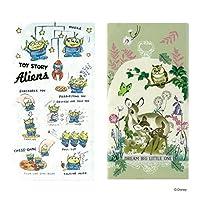 Disney(ディズニー) 抗菌マスクケース 3ポケット 2枚セット (リトルグリーメン×バンビ草花)