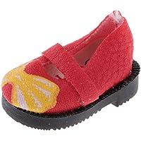 Baosity 12 インチ ブライスドール対応 人形 可愛い 靴 素晴らしい アクセサリー 全3色選ぶ - 赤色