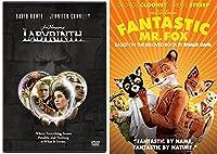 Fantastic Mr. Fox & Labyrinth Adventures DVD Animated Fantasy Set Family Movies