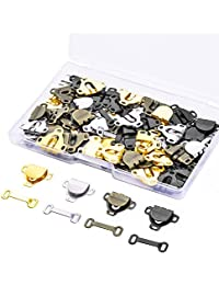 60 Pairs Skirt Hooks and Eyes Sewing Hook Eye Closures for Trousers Skirt Dress Sewing DIY Craft