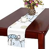 GGSXD テーブルランナー すばやい ラグドール クロス 食卓カバー 麻綿製 欧米 おしゃれ 16 Inch X 72 Inch (40cm X 182cm) キッチン ダイニング ホーム デコレーション モダン リビング 洗える
