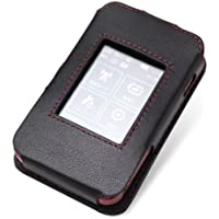 PDAIR レザーケース for Wi-Fi WALKER WiMAX 2+ HWD15 スリーブタイプ(ブラック/レッドステッチ) PALCHWD15S/BL/RD