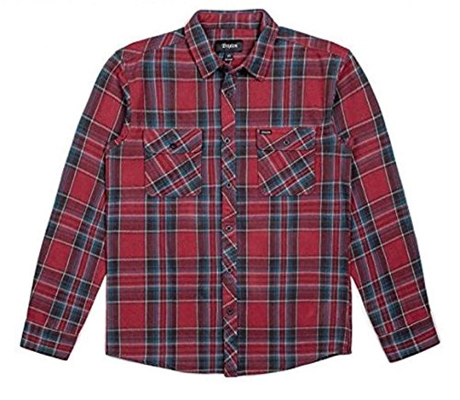 避ける率直なバドミントンBrixton Bowery L/S Flannel Shirt Burgundy M ネルシャツ 並行輸入品