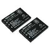 【2個セット】FUJIFILM 富士フイルム NP-60 互換 バッテリー【実容量高】【ロワジャパン】