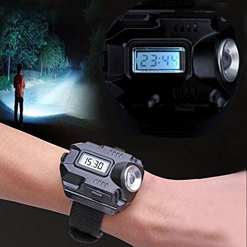 Hosam 懐中電灯 led腕時計 羅針盤 三つを一体に 登山備品 自転車ライト 野外冒険 防犯 防災 停電時に