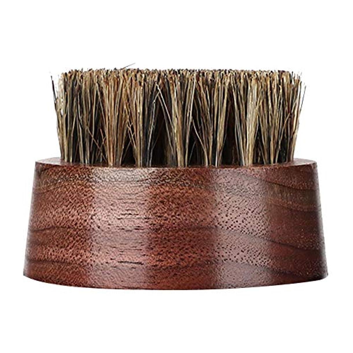 ワーム飾るフェローシップひげブラシ-プロの木製男性ラウンドくし