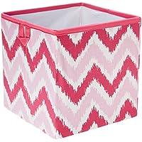 Bacati MixNMatch Zigzag Storage Box, Pink, Small by Bacati