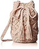 [コントロールフリーク] カラーマクラメ巾着  165-120518 CAMEL キャメル