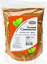 Pure Food Essentials Organic Cinnamon Powder, 500 g