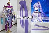 豪華修正版Fate/Grand Order グランドオーダー FGO メディア リリイ lily 満破 コスプレ衣装+靴下+手袋 ★ ウィッグ追加
