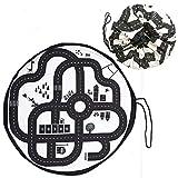 AsToy 2Way 子供 プレイマット 直径140 おもちゃ 片付け 収納袋 大容量 ストレージバッグ 便利グッズ 子供部屋 インテリア
