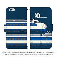 HTC Desire 626 ケース [デザイン:15.0系新幹線-navy/マグネットハンドあり] 新幹線 JR東日本 手帳型 スマホケース カバー 楽天モバイル desire626