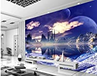 Bzbhart カスタム写真の壁紙3Dドリームスカイシティは、リビングルームの壁紙のための壁の壁紙のための壁紙をカスタマイズしました-200cmx140cm