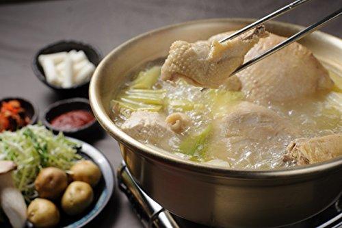 コラーゲンたっぷりのタッカンマリ 닭한마리 鍋料理セット 韓国の水炊き 特製鶏だし カルグス 自家製タデギ付き 1羽 大人4人分