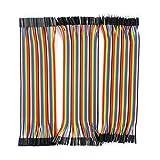 IZOKEE 3本セット 120pcs ブレッドボード・ジャンパーワイヤー ジャンパー線 / ケーブル 20cm 40本オス-オス/ 40本オス-メス/ 40本メス-メス for arduino
