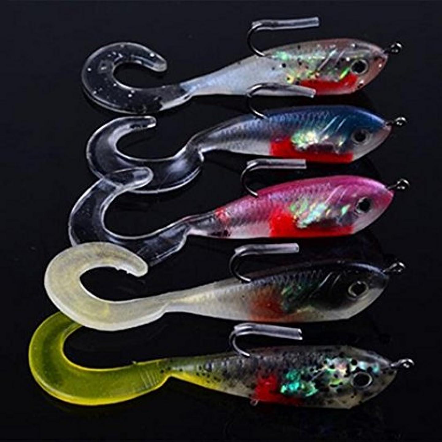 音オンス強います5個のソフトシリコーンマルチカラーのバイオフィッシュ餌は、屋外釣りタックルキット