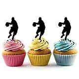 JPTA0152 バスケ ポイントガード Basketball Point Guard アクリル製 カップケーキトッパー ケーキトッパー ケーキスティック 結婚式 誕生日 パーティー 装飾用品 アクセサリー 10本