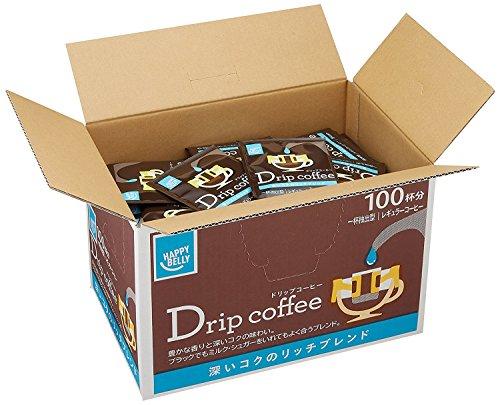 ハッピーベリー ドリップコーヒー 深いコクのリッチブレンド 粉 (7gx100p) 700g
