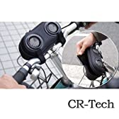 【CR-Techオリジナル】 iPhone/iPod対応 スピーカー内蔵 自転車用 ポーチ (ブラック)