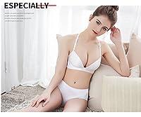 フロントバックルバックバックブラジャーリムなしトップ上に小さな胸ギャザー下着ランジェリー女性感覚シームレスアンダーウェアワンピースCUIYAN (色 : 白, サイズ : 80B)
