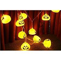 Kukiwaハロウィン かぼちゃ led 点滅  電池 イルミネーションライト 電球 10LEDカボチャ 点滅 ハロウィンランタン クリスマス ツリー 飾り イルミネーション 電飾 クリスマスライト ハロウィン飾り