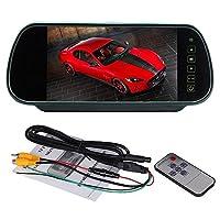 Quaanti 7インチ 液晶ディスプレイカラースクリーン 車 バックカメラ DVD ミラーモニター ブラック Quaanti