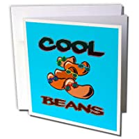 Dooni Designs Food Designs – Funny Cool Beans Saying Foodユーモアデザイン – グリーティングカード Set of 12 Greeting Cards