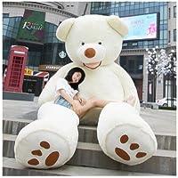HYAKURIぬいぐるみ 特大 くま/テディベア  可愛い熊 動物 大きい/巨大 くまぬいぐるみ/熊縫い包み/クマ抱き枕/お祝い/ふわふわぬいぐるみ (260cm, ホワイト)