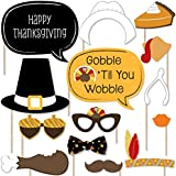 Give Thanks - Thanksgiving Photo Booth Props Kit - 20 Count