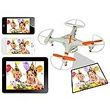 カメラ搭載 ラジコンヘリ  日本語説明書あり ヘリコプター クアッド 4ch ヘリ WIFI アプリ Phone iPad 3D飛行可能飛空撮 KB-NAME-X