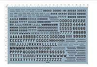 フォント Font 数字 字体 アルファベットA-Z 1-9 デカール水転写式 「並行輸入品」