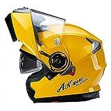 バイクヘルメット フルフェイスヘルメット システムヘルメット フリップアップヘルメット ダブルシールド PSC付き YHZ-35[商品02/XXL]