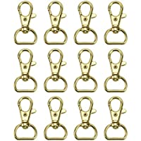 WSSROGY 30 pcs Gold Metal Lobster Clasp Lobster Claw Swivel Eye Lobster Snap Clasp Hook for Jewelry Making