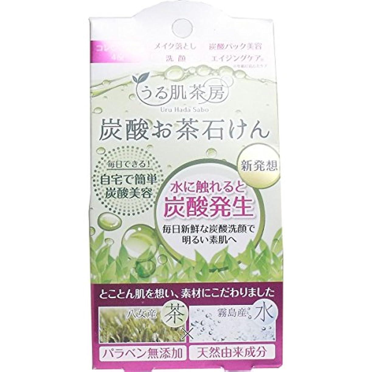 論争的マウントボスうる肌茶房 炭酸お茶石鹸 (スパークリングソープ)