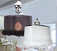 ANDEa クリエイティブなシャンデリア、結婚式のウェディングペンダントランプガールズルームライトプリンセスベッドルームレストランの装飾シャンデリアリビングルーム照明ランプシングルE27。直径35cm高さ115cm 独創 ( 色 : 白 )