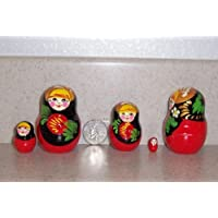 Russian Nesting Doll Strawberry 4 pcs / 2 in ** strb-4.2 by hand made [並行輸入品]