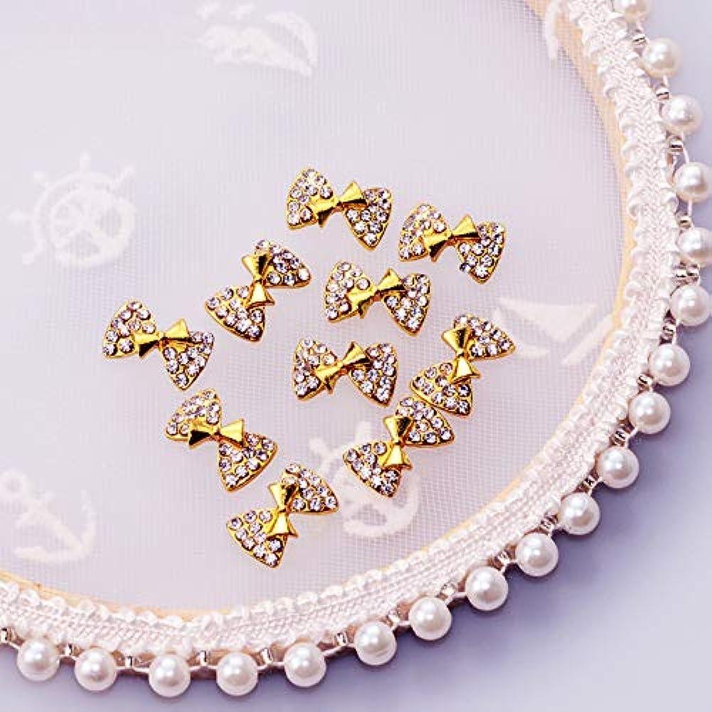 パイ収穫鯨10個新しいかわいい蝶ネクタイ3Dネイルアート装飾合金ネイルチャームクリスタルネイルラインストーンマニキュアツールTN339