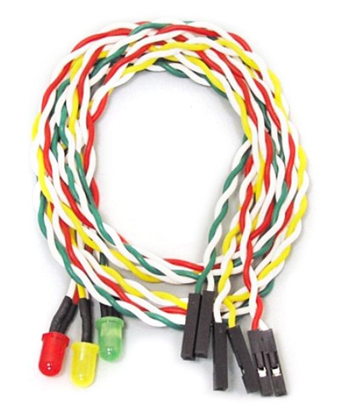 堤防ピクニック生き返らせるアイネックス ケ-ス用丸型LED5φ赤?黄?緑 LED-05MS