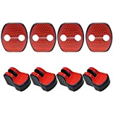 適合多数 日産 Nissanニッサン 汎用 赤 高輝度 反射テープ ドア ロック ストライカー カバー Cタイプ/ストッパーカバー4枚 ニッサン T32 エクストレイル / E52 エルグランド / C25 C26 セレナ / E12 ノート 等