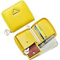 Yogwoo Womens Card Wallet Zipper Around Purse Girl Mini Pocket Coin Cash Card Multi Clutch Compact Handbag
