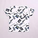 (ベンデイビス) BEN DAVIS 総柄プリントTシャツ [M-7580421] 90A WHITE M