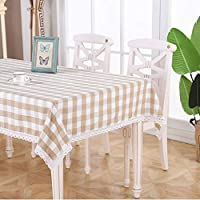 テーブルクロス 綿のリネンテーブルクロス、コーヒーテーブルの家のダイニングテーブルのための正方形の格子長方形のテーブルクロス (Color : C, Size : 140*140cm)