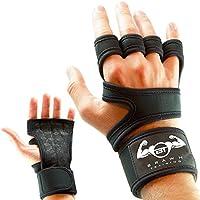 Brawnトレーニングジム手袋パワーリフティング、重量トレーニング、バイキング、サイクリングプレミアム品質ウェイトリフティング手袋トレーニンググローブW /洗濯可能forカルスとブリスター保護、メンズ、レディース