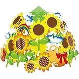 夏装飾 ひまわり2段センターW60㎝  / 向日葵 ヒマワリ 飾り ディスプレイ  7625