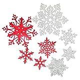 レンコス(Lemcos)クリスマスエンボスステンシル クリスマス用 Merry Christmas 金属切削ダイスステンシル 切り抜き紙が作れる型  節日 ダイカットテンプレート クリスマス雰囲気 紙飾り用具 スクラップブック (D)