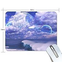 Anmumi マウスパッド 滑り止め 宇宙柄 空 海 雲 月 19×25cm ゲームに適用 かわいい オシャレ レディース メンズ 子供 ゴム 実用性 パソコン対応